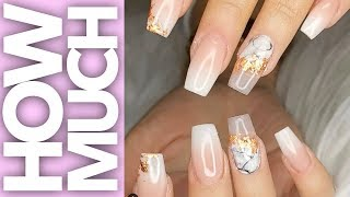 How Much - Tapered Square Ombre Transformation - Acrylic Nails