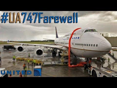 THE LAST UNITED's BOEING B747 FLIGHT - #UA747Farewell