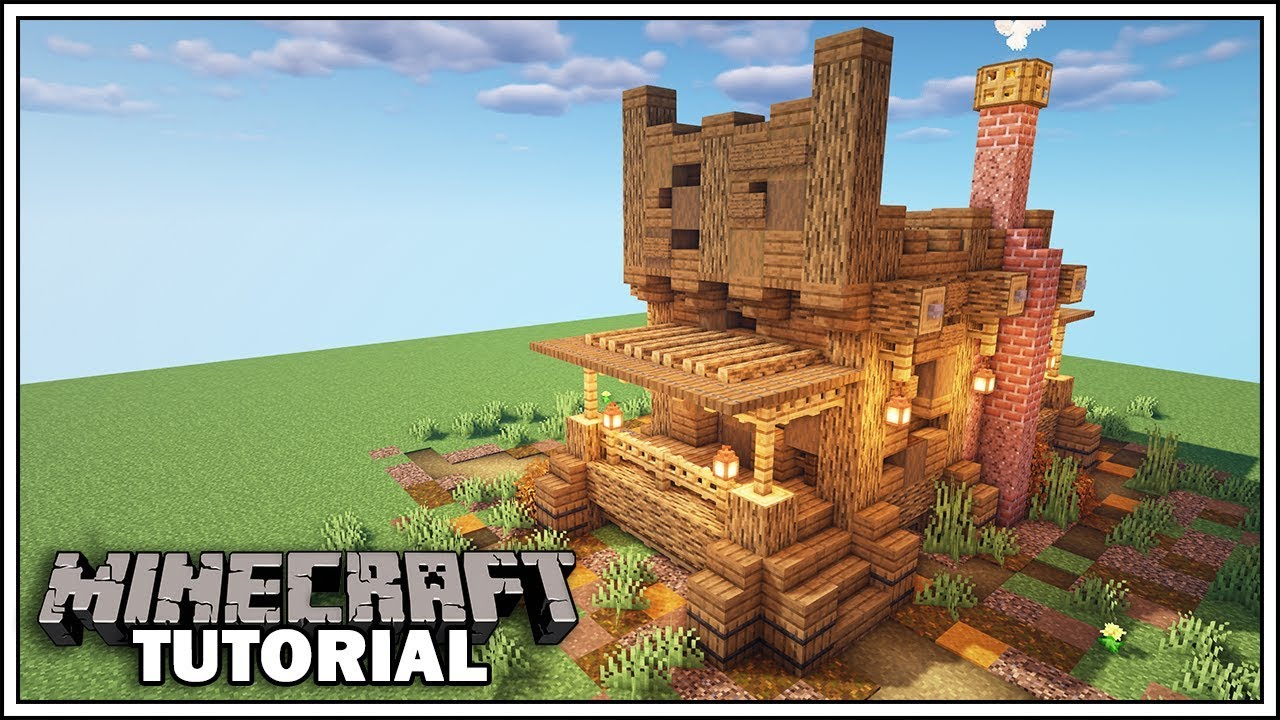 How To Build A Western House In Minecraft Youtube