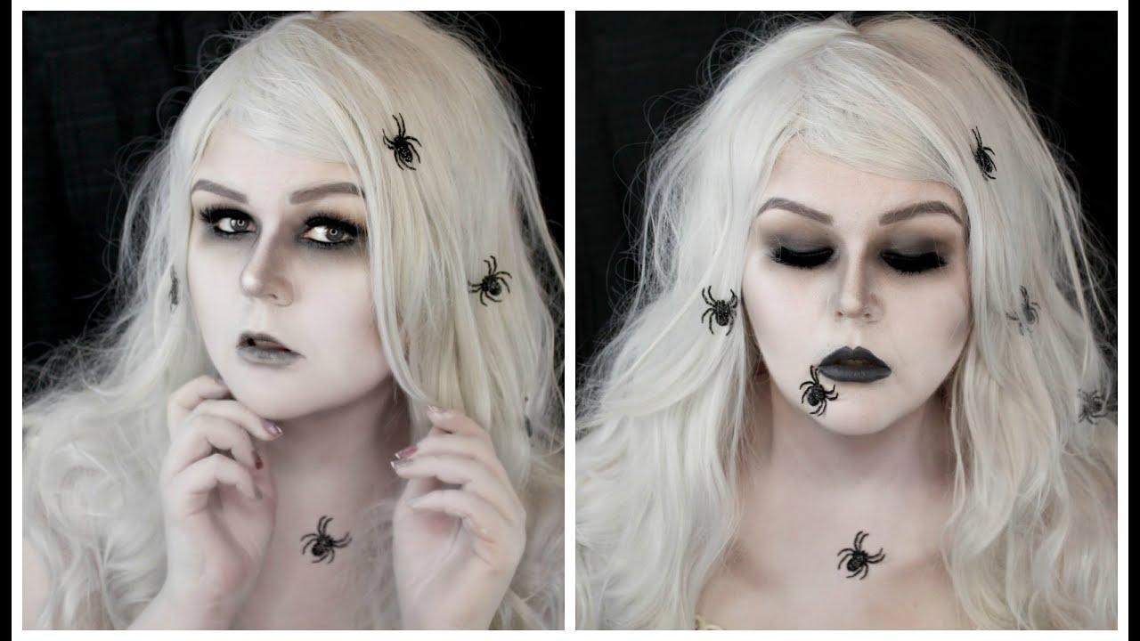 Living Dead Girl Ghost Halloween Makeup Tutorial | Spiders - YouTube