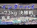 インターハイ柔道 2019  73kg 決勝戦 有馬 vs 田中 JUDO