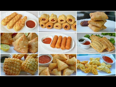 9 SNACKS FOLDING IDEAS PART 2 (RAMADAN SPECIAL) by YES I CAN COOK