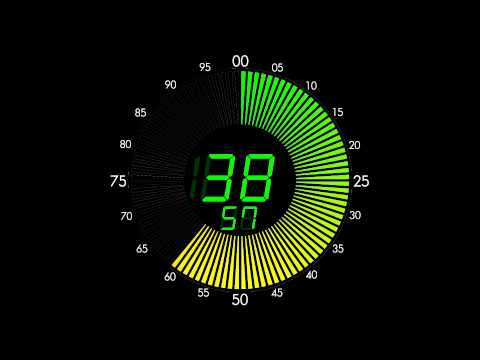 100 Seconds Countdown (LED Circle Clock Version , Remix BBC Countdown , 50FPS)