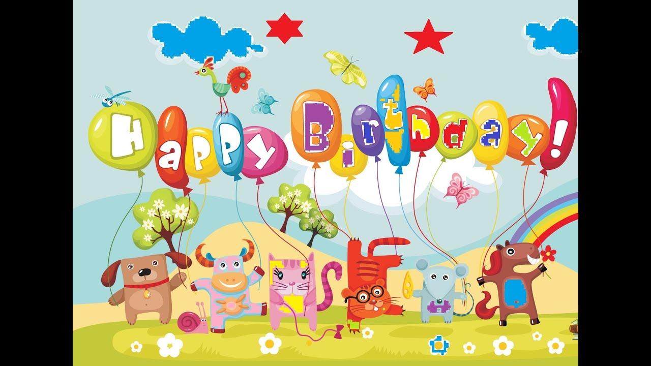 हैप्पी बर्थडे Happy Birthday Song Kids Rhmye Poem Nursery