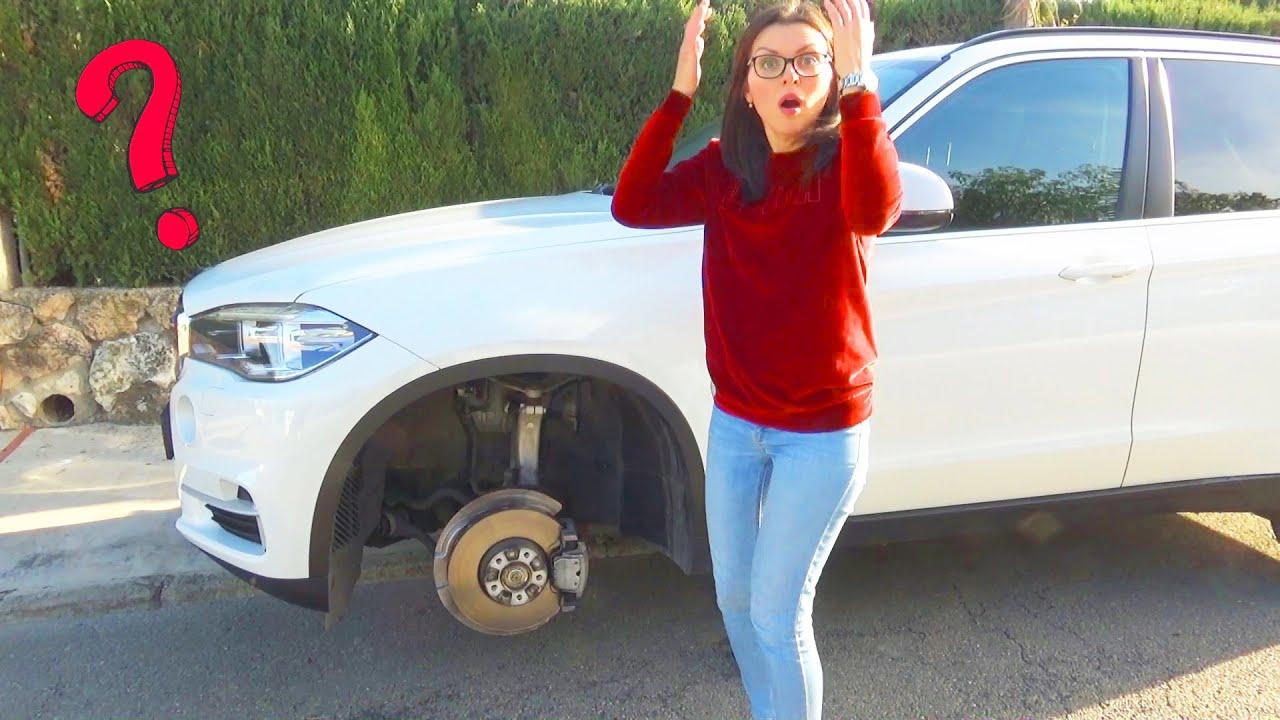 Мама загубила колесо на BMW X5