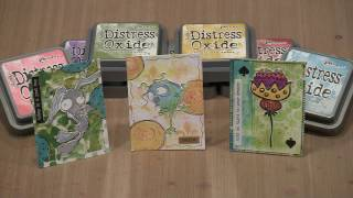 Distress Oxide Ink ATCs With Stencils, Stamping, And More by Joggles.com