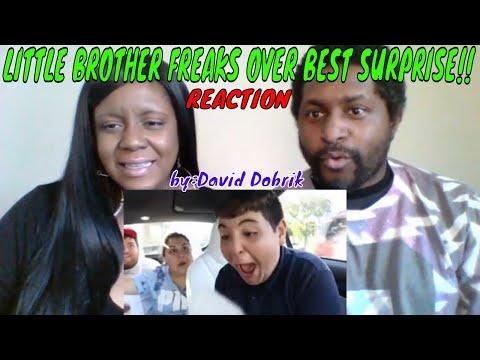 David Dobrik - LITTLE BROTHER FREAKS OVER BEST SURPRISE!! REACTION