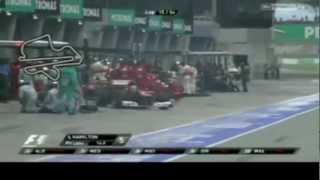 F1 Malaysia Grand Prix 2012 Highlights HD
