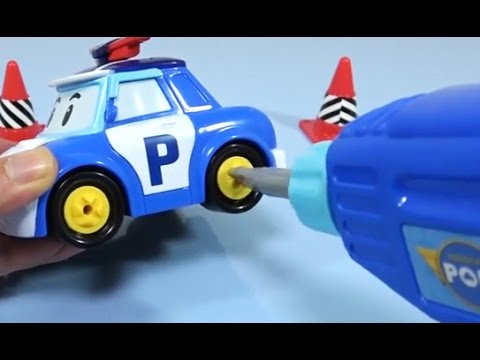 Thumbnail: How to Make Police Car Tools toy with Learn Colors / Robocar Poli