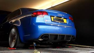 Audi RS4 B7 with Overrun/downshift crackle MRC Tuning
