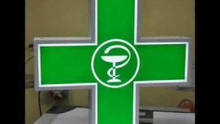 Krzyż apteczny LED www.krzyzapteczny.com.pl 511 066 600 REKLAMA LED Reklama Apteki
