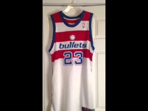 size 40 cda4e 22687 Michael Jordan game worn Washington Bullets jersey.