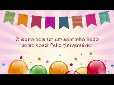 Frases De Feliz Aniversário Para Sobrinho Youtube