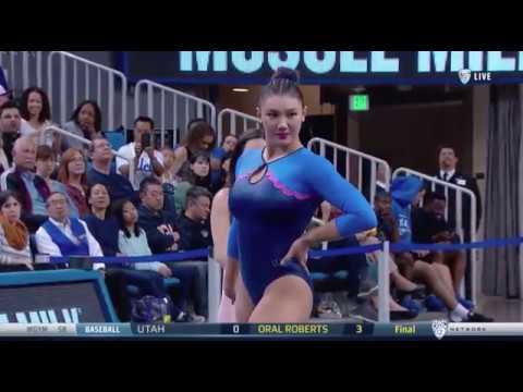 Kyla Ross (UCLA) 2018 Floor vs Utah 9.875