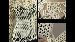 tutorial jersey sweater crochet facil para todas las tallas ( subititles in several lenguage) thumbnail