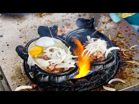 Thumbnail: FLAMING BEEF and EGGS! - Must-Eat Cambodian Street Food Dish in Phnom Penh!