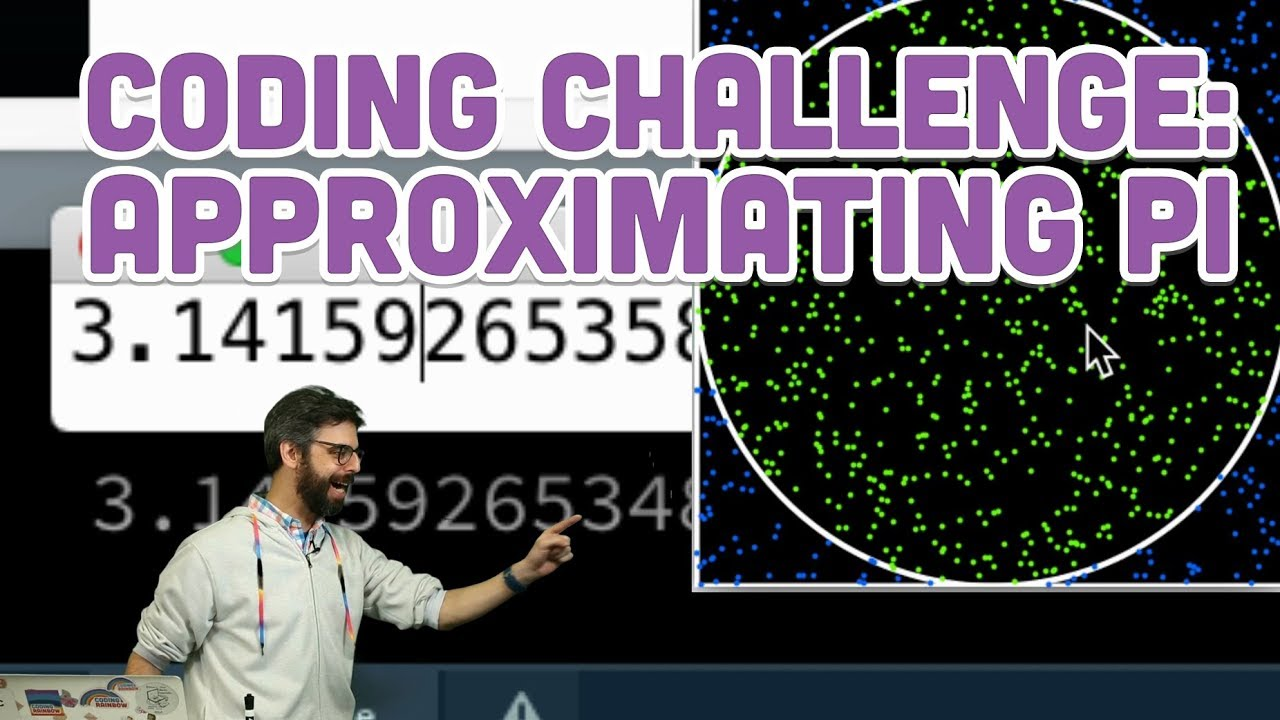 Coding Challenge #95: Approximating the Value of Pi by The Coding Train