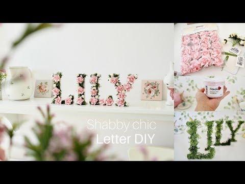 Shabby chic wooden letter DIY