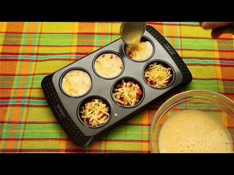 Омлет в форме для кексов - Рецепты от Со Вкусом