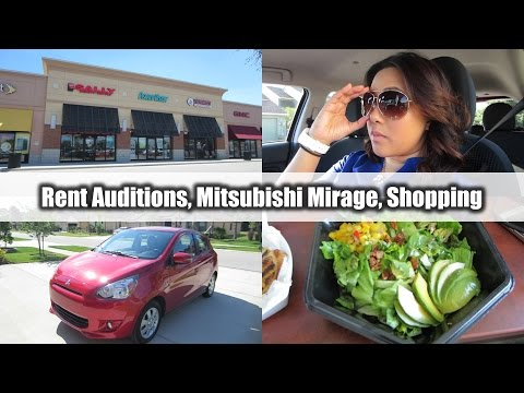 Rent Auditions, Mitsubishi Mirage & Shopping | VLOG