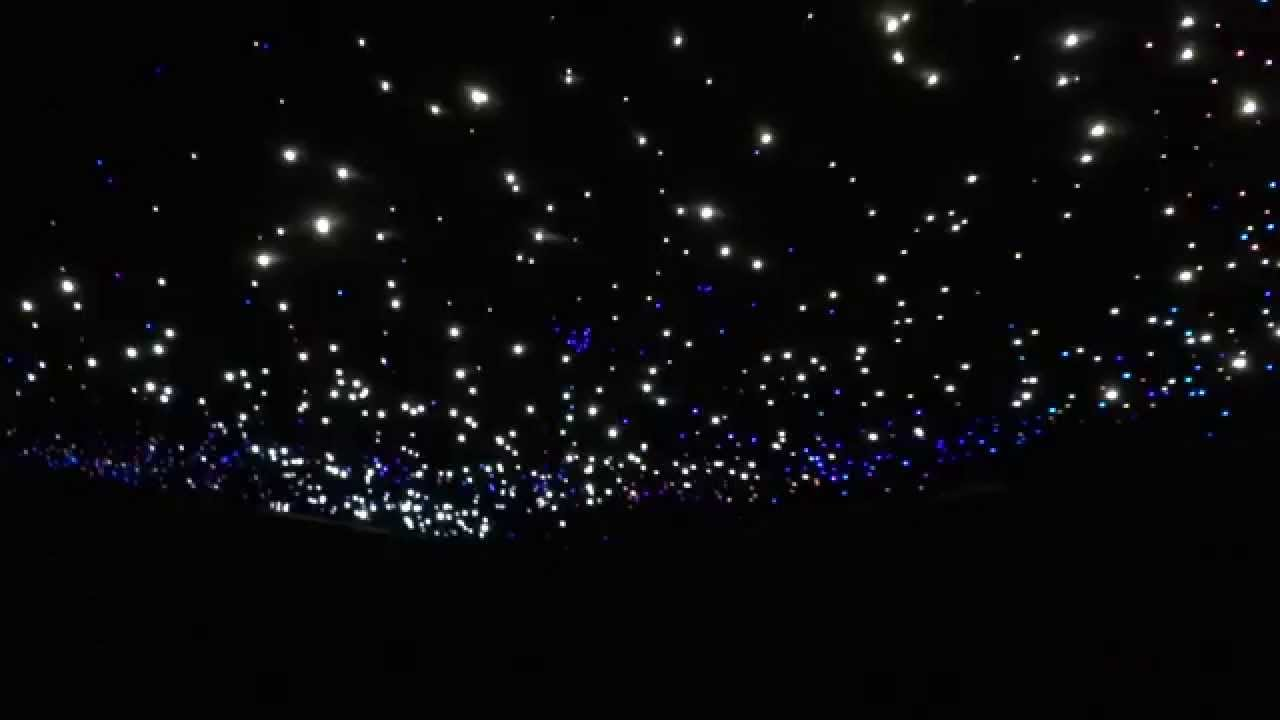 Glasfaser Sternenhimmel mit Sternschnuppe  YouTube