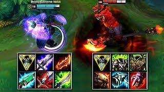 JAX vs NASUS FULL BUILD FIGHTS & Best Moments!