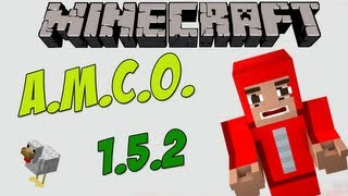 Minecraft 1.5.2 - Pack de mods com 100+ mods (AMCO) com Pasta .minecraft para Download