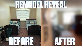 BOYS' BEDROOM COMPLETE MAKEOVER REVEAL | BEFORE AND AFTER THEMED BEDROOM REMODEL