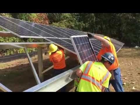 Mt. Tom Solar Farm under construction