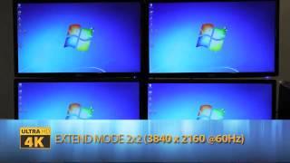 DISPLAYPORT TO HDMI 1x4 SPLITTER MST VIDEO WALL UNIT. 4K2K Resolution. (R06-MST-104-HD)