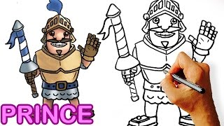 How to Draw Prince Clash Royale / Clash of Clans Step by Step