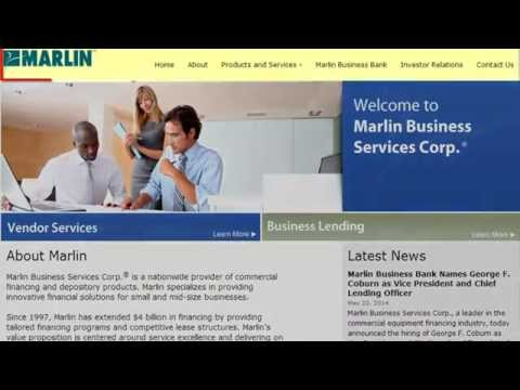 Marlin Business Services A Nationwide Provider Of Commercial Financing And Depository Products.