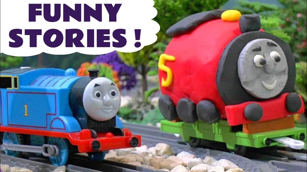 Thomas & Friends funny stories with Play Doh and Tom Moss - Toy trains for kids and children TT4