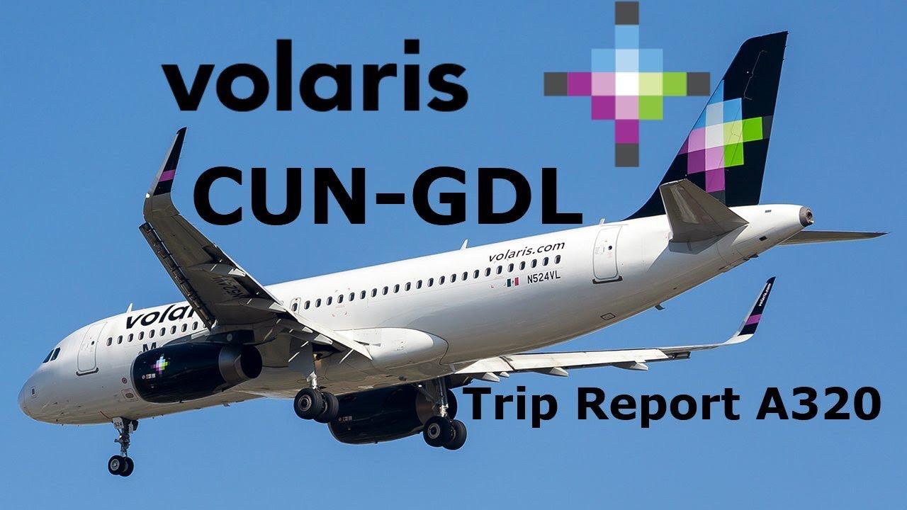 Download Trip Report: Cancún-Guadalajara / Volaris A320 (Y4633 - N524VL)