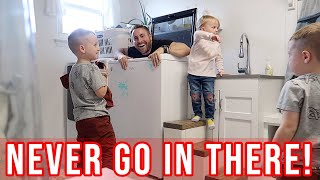 DON'T EVER GO IN THERE // PRANKING OUR KIDS // BEASTON FAMILY VIBES