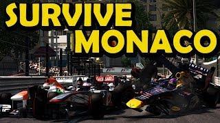 SURVIVE MONACO - Realistic Damage F1 2013