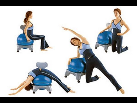 Gaiam Balance Ball Chair Exercises Gci Outdoor Pico Arm Navy Review Youtube