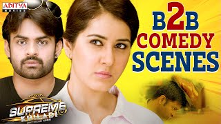 Supreme Khiladi Ultimate Back to Back Comedy Scenes|latest Hindi Dubbed Movies|Sai Tej,Raashi Khanna