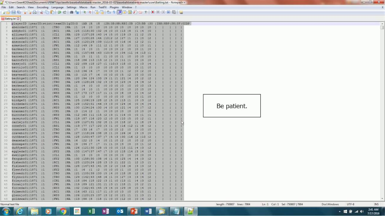 Using NotePad++ to Separate Text to Columns