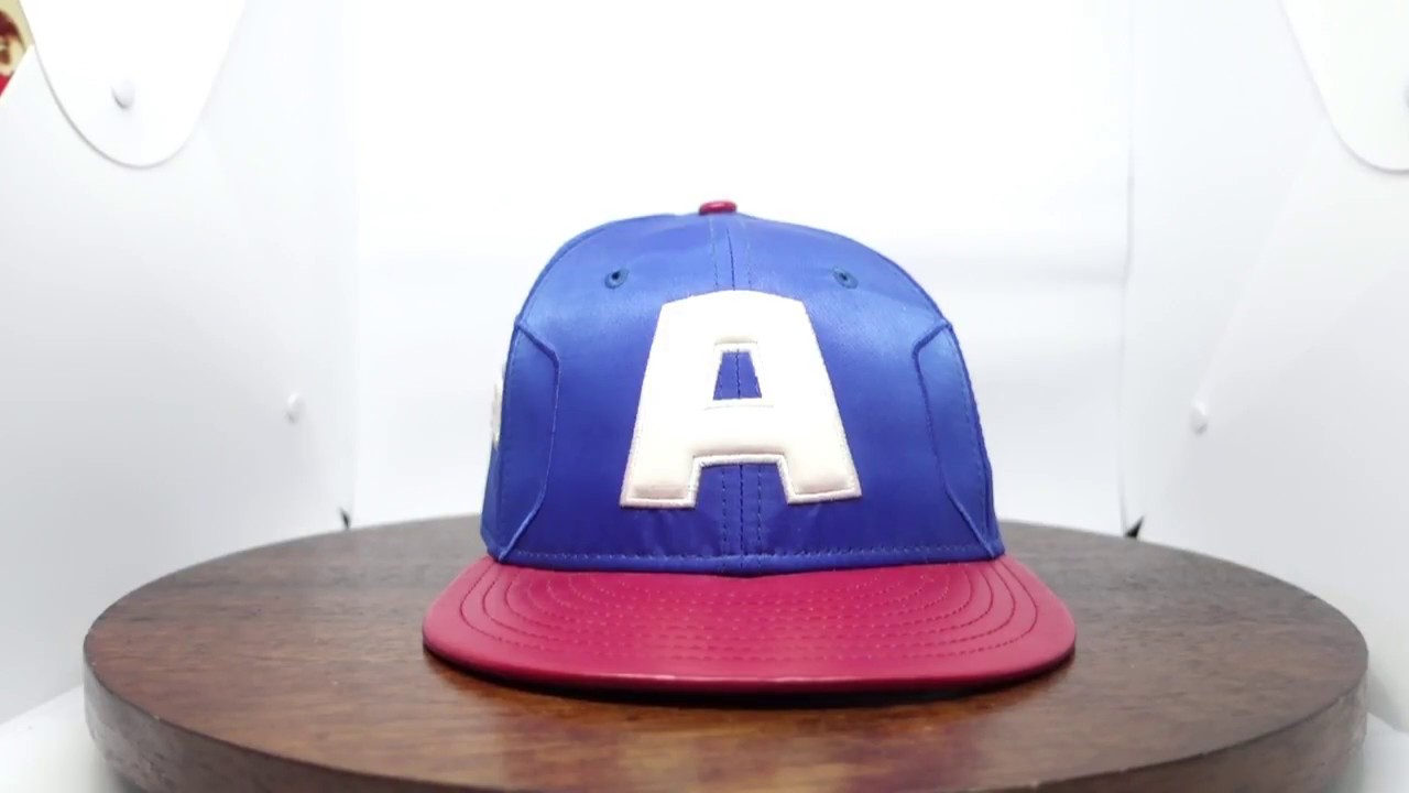New Era Captain America Shield Black 59Fifty Fitted Hat