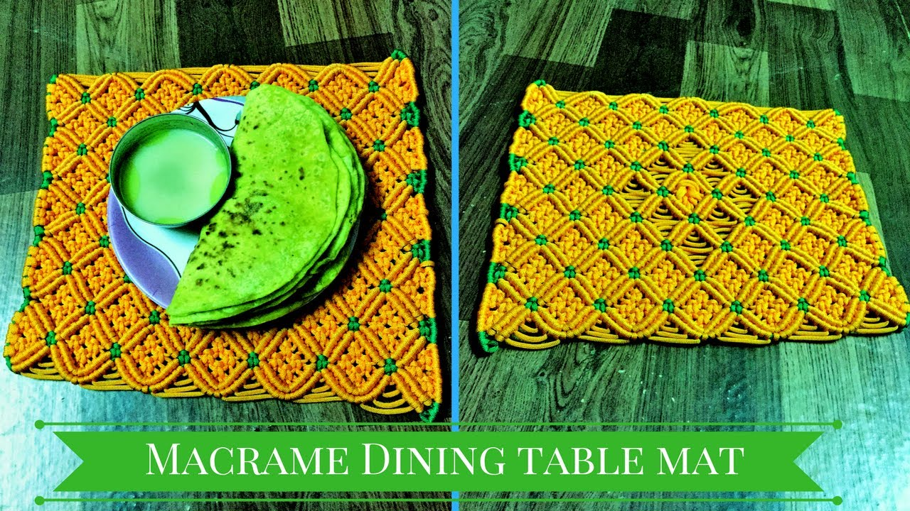 How to make dining table mats at home - Diy Macrame Dining Table Mat Macrame Art Macrame Diy Project Of Table Runner