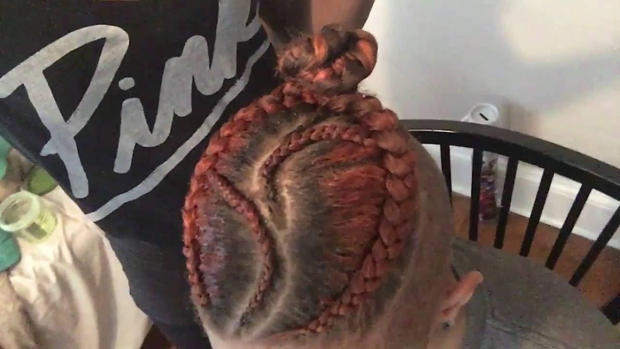 Undercut With Braids Man Bun Style 3 Youtube