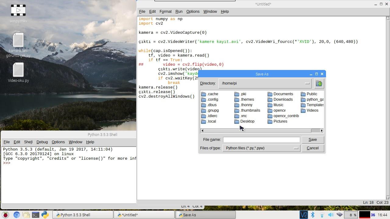 Python ile kameradan kayıt yapma ve video ters çevirme