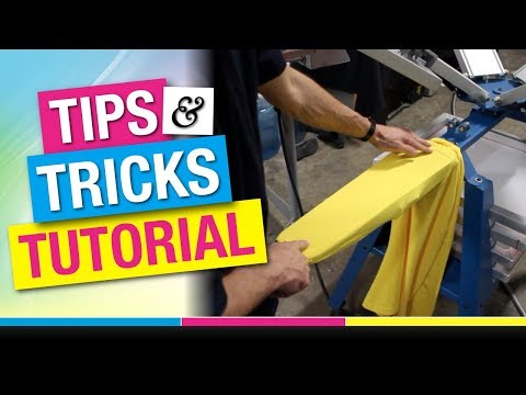 How To Screen Print On Sleeves Tutorial | Long Sleeve T-Shirts
