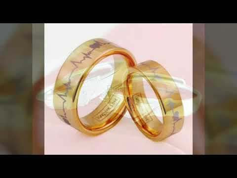 Wonderful Silver Gold Couple Ring Design