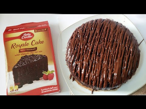 Royale Tripple Chocolate Cake, How To Make Betty Crocker Royale Cake, How To Bake In Microwave