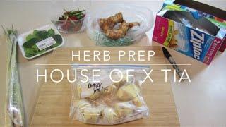 Herb Prep (thai Chilies, Kaffir Lime Leaves, Galangal, Lemongrass & Ginger) | House Of X Tia