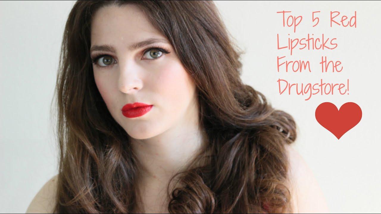 Best Red Lipsticks from the Drugstore - YouTube