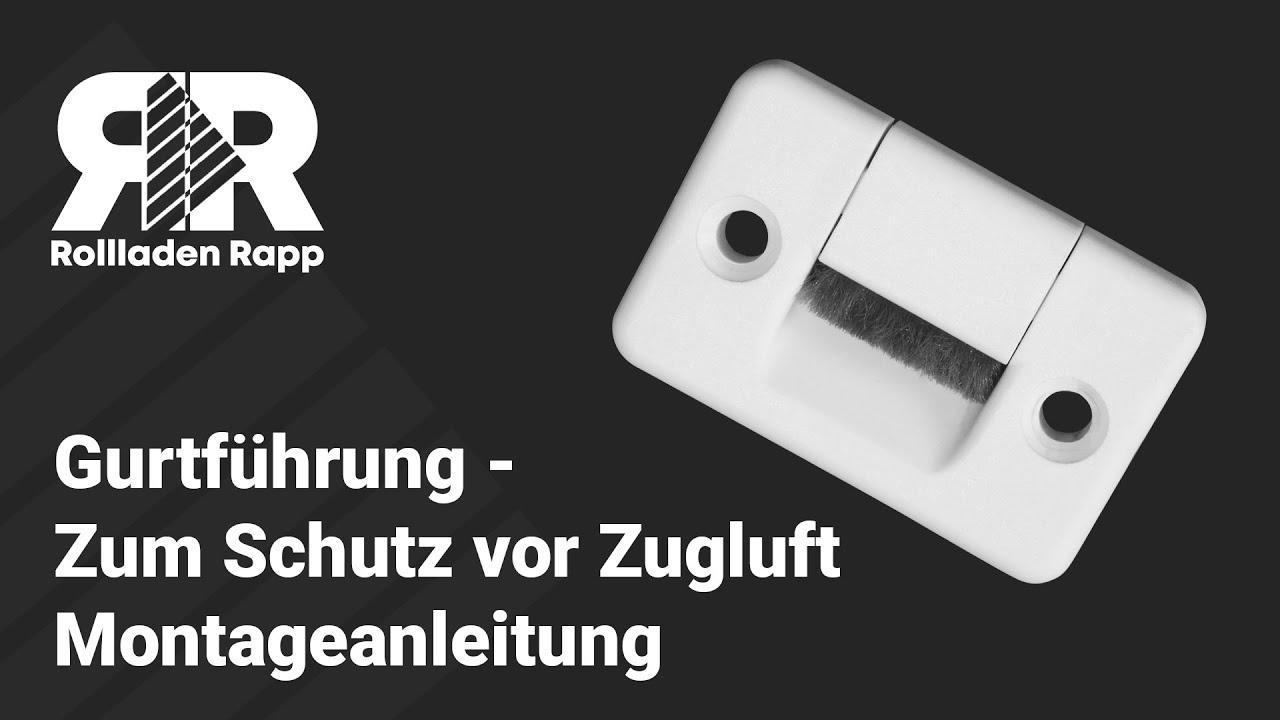 Gut bekannt Gurtführung - Zum Schutz vor Zugluft - YouTube HF64