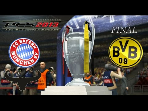 PES 2013 UEFA Champions League - Bayern Munich vs Borussia Dortmund - FINAL